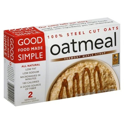 Good Food Made Simple Vermont Maple Syrup Oatmeal 16 oz