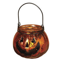 Gerson Pumpkin Tealight Candleholder (Orange)