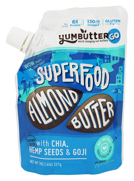Yumbutter Organic Superfood Almond Butter Creamy 7 oz - Vegan