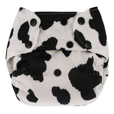 Blueberry Deluxe Diaper, Cow