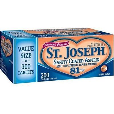 St. Joseph Adult Low Strength Aspirin Regimen (81 mg), 300-Count Enteric-Coated Tablets (Pack of 2)