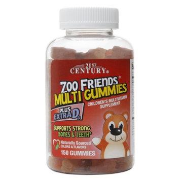 21st Century Zoo Friends Multi Gummies Plus Extra D3, 150 ea