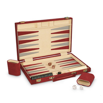 Sunnywood, Inc. Sterling Games 15-Inch Backgammon Set - Burgundy Suede