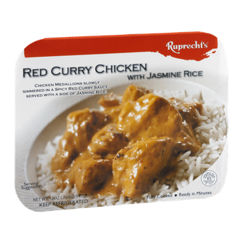 Ruprecht's Red Curry Chicken with Jasmine Rice Fully Cooked