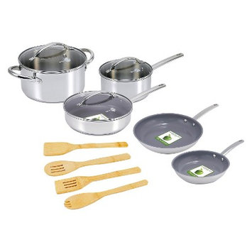 Green Pan 12 pc Miami SS Cookware Set