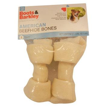 Pet Factory Inc USA Rawhide Beefhide Bone - 4 in - 2 pk