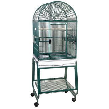 HQ Open Dometop Birdcage with Stand Black