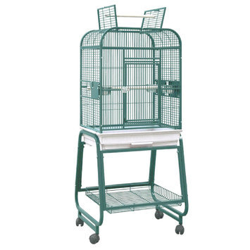HQ 32217Cgr Square Top Bird Cage Green