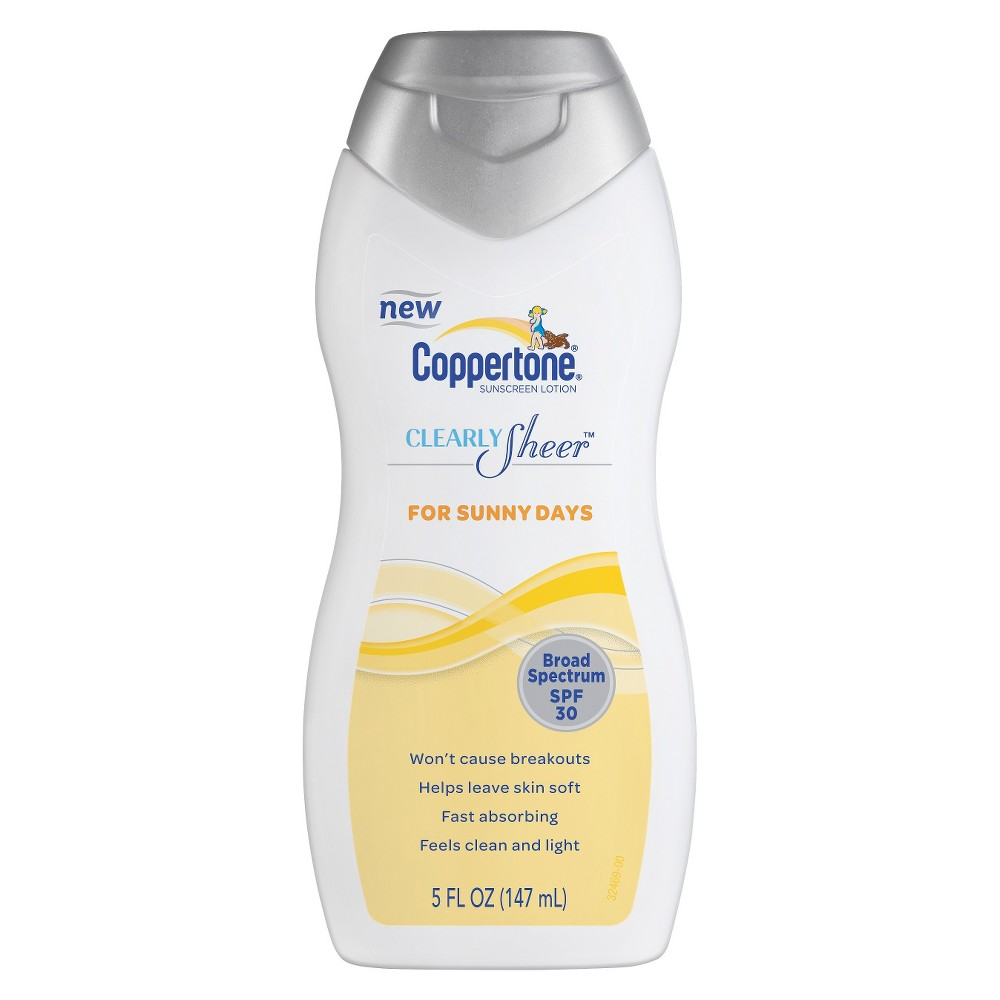 Coppertone Clearly Sheer Sunny Days SPF 30 Lotion - 5 oz