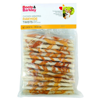 Target Home Boots & Barkley Chicken Wrapped Rawhide Twists Dog Treats 45 ct