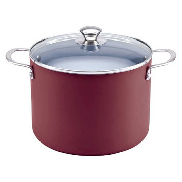 Chefmate 8 qt Stockpot-Red