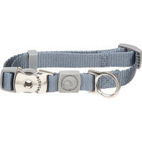 Aspen Pet by Petmate Deluxe Signature Nylon Pewter Dog Collar, Large