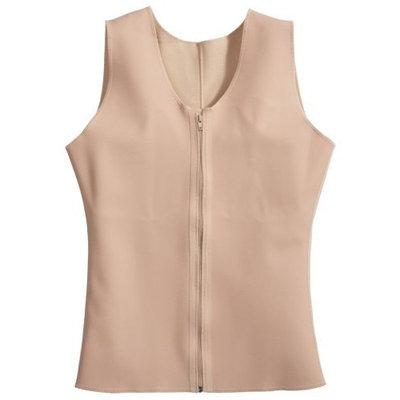 Squeem Magical Lingerie Squeem Firm Compression Power Vest, Cotton & Rubber, Mens, Beige, Medium