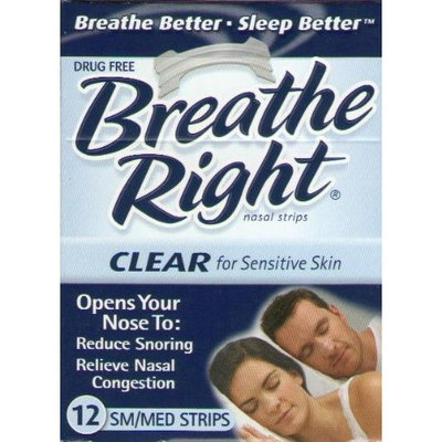 breathe Right Nasal Strips,clear Small Medium Sensitive Skin, 12-count Boxes(144 Strips)