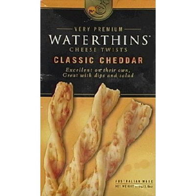 Waterthins Classic Cheddar Cheese Twists, 3.9-Ounce Boxes (Pack of 6)