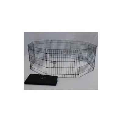 Bestpet 30 Black Pet Dog Cat Play Exercise Pen Fence w/Case 4B