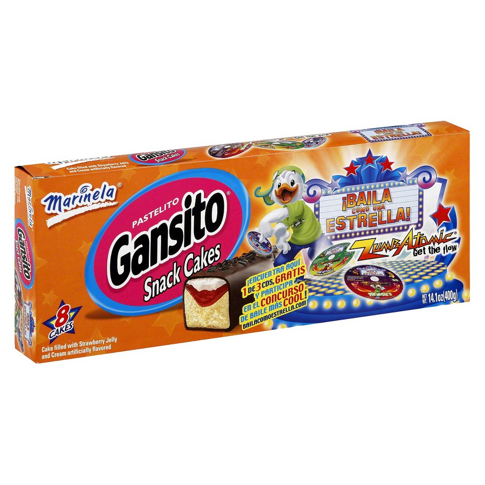Bimbo Bakeries, Usa Marinela Gansito Snack Cakes 8 ct