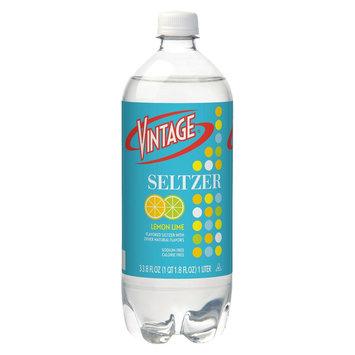 Vintage Lemon Lime Seltzer Water 33.8 oz