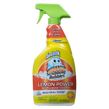 Scrubbing Bubbles All Purpose Cleaner with fantastik Lemon Scent 32 oz