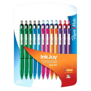 Sanford Paper Mate InkJoy 300RT Ballpoint Pens 24ct Assorted, Multi-Colored