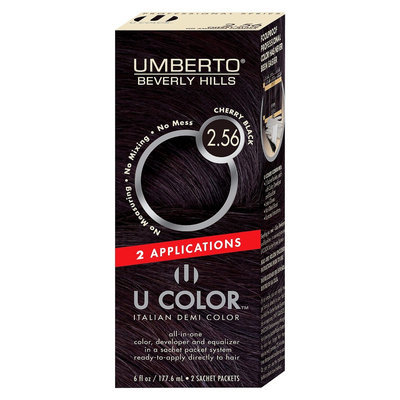 Umberto Beverly Hills U Color Italian Demi Hair Color - Cherry Black