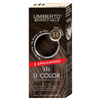 Umberto Beverly Hills U Color Italian Demi Hair Color - Light Brown 5.