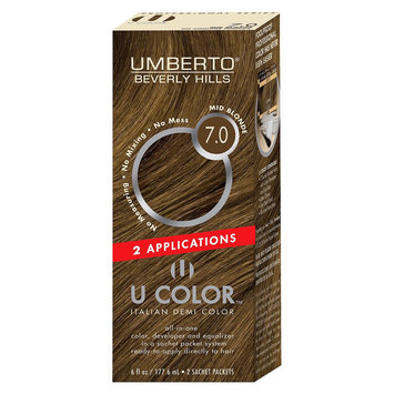 Umberto Beverly Hills U Color Italian Demi Hair Color - Mid Blonde 7.0