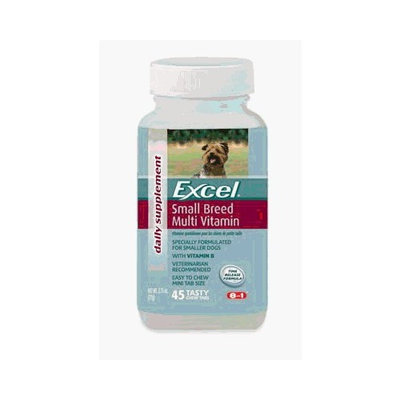 8In1 Pet Products Eight in One Products N7301 Excel Small Breed Mulit Time Release Vitamin for Dogs 45 Tab