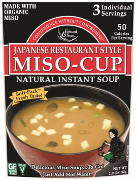 Edward & Sons Japanese Restaurant Style Miso Cup Soup 2.9 oz