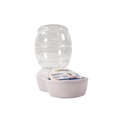 Doskocil Petmate Replendish Pet Waterer with Microban in Pearl White
