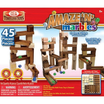 POOF-Slinky 4745 Ideal Amaze N Marbles Classic Wood Construction Set