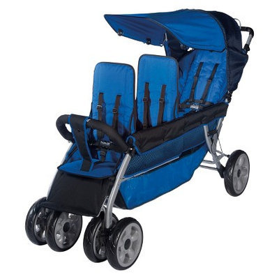 Foundations 4130037 The LX3 3-Passenger Stroller - Regatta