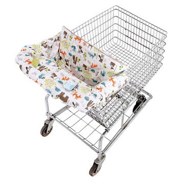 Eddie Bauer Reversible Cart & High Chair Cover - Blue & Green
