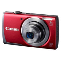 Canon Powershot A3500 16MP Digital Camera with 5x Optical Zoom - Red