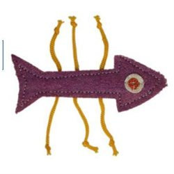 Imperial Cat 01151 Fish Bone Loofah Toy
