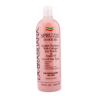 La Brasiliana La-Brasiliana Spruzzi 24 Hours Keratin Treatment with Collagen Soy Protein & Argan Oil 1000ml/33.8oz