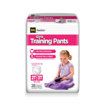 DG Toddler Training Pants for Girls 2T-3T - 26ct