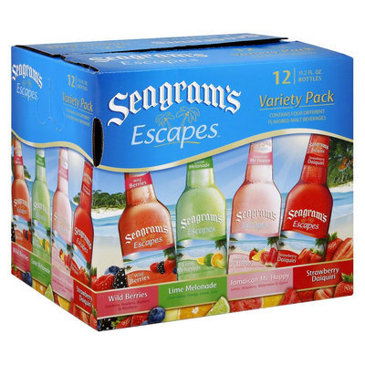 Seagrams Seagram's Escapes Malt Beverage Variety Pack 12 oz, 12 pk