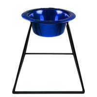 Platinum Pets Pyramid Diner Stand with Wide Rimmed Embossed Bowl