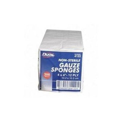 Dukal Corporation Ns Gauze Sponge White 4x4 Inch - 4122