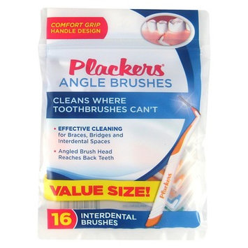 Plackers Angle Interdental Brushes - 16 Count