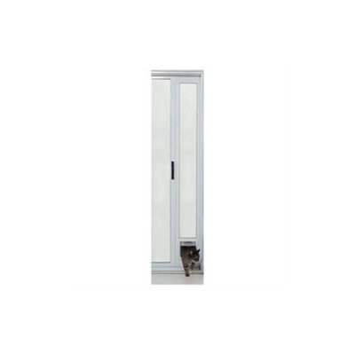Ideal Pet Products PATCFW Cat Flap Patio Door - White Finish 77 5/8-80 3/8
