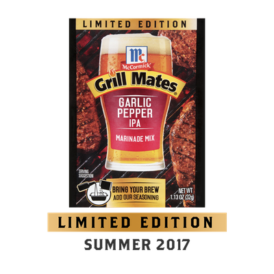 McCormick® Grill Mates® Garlic Pepper IPA Marinade Mix