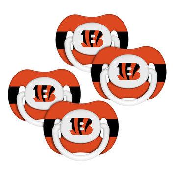 Shreeram Overseas Cincinnati Bengals NFL 4-pack Baby Pacifiers