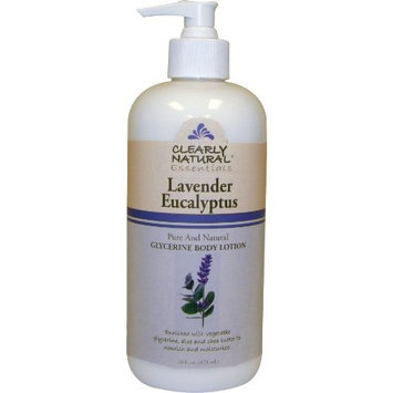 Clearly Natural Glycerin Body Lotion, Lavendar and Eucalyptus, 16 Ounce