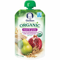 Gerber Organic 2nd Foods Plastic Gerber Organic 2nd Foods Pear & Pomegranate with Mixed Grains Baby Food