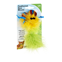 SmartPaw Feathered Boa Mouse Cat Toy