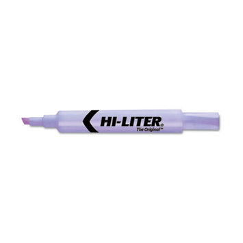 Hi-liter HI-LITER Desk Style Highlighter, Chisel Tip, Fluorescent Purple Ink