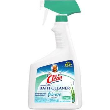 Mr. Clean Disinfecting Bath Cleaner With Febreze Fresh Meadows And Rain Scent