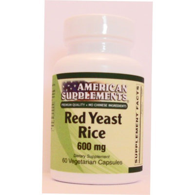 Red Yeast Rice No Chinese Ingredients American Supplements 60 VCaps